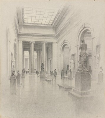 Preliminary Study: Central Gallery for the Exhibition of Sculpture
