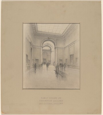 Early Study of Exhibition Gallery off  Central Gallery