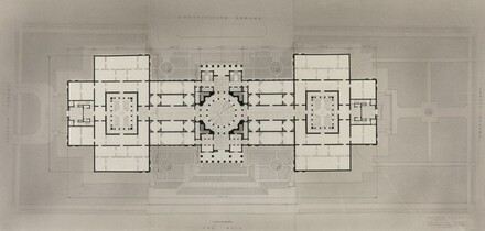 Main Floor Plan, Scheme with Dome