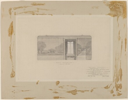 Study of Cafeteria: West Elevation