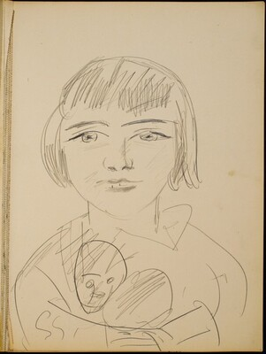 Mädchen mit Puppe (Girl with a Doll) [p. 7]