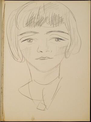 Mädchenbildnis (Portrait of a Girl) [p. 9]