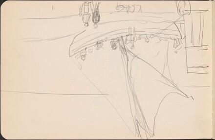 Anlegendes Segelboot und Uferpromenade (Sailboat arriving at Embankment) [p. 5]