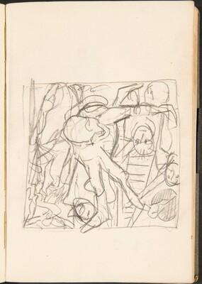 Mehrfigurige Kompositionsskizze (Figural Sketch) [p. 27]