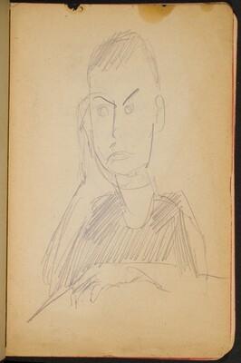junger Mann mit aufgestütztem Kopf (Young Man, Propped Up) [p. 15]