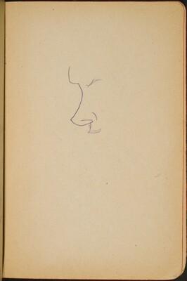 begonnene Skizze eines Gesichts (Initial Sketch of Profile) [p. 45]