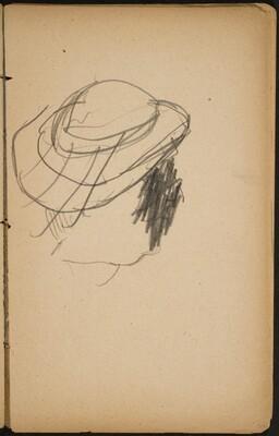 Kopf mit Hut, Gesicht verworfen (Head with a Hat) [p. 37]
