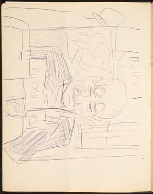 Lesender Mann im Café (Reading Man in a Café) [p. 22]