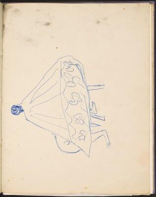 Sitzende Frau im Umhang (Seated Figure with a Cape) [p. 29]