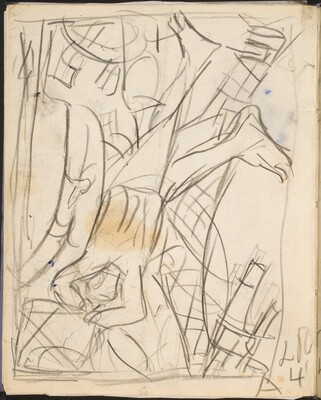 Entwurf zu Abstürzender (Sketch for Falling Man) [p. 50]