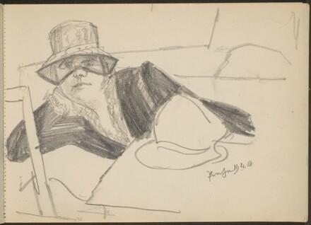 Liegende Frau mit Hut (Elegant Lady in a Hat) [p. 3]