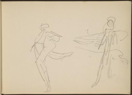 flüchtige Skizze zweier Tanzender (Two Dancers) [p. 9]