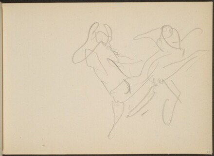 Skizze von Tanzenden (Sketch of Two Dancers) [p. 67]