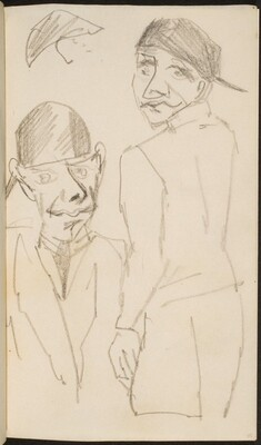 Mann mit Kappe in zwei Ansichten (Two Views of a Man with a Cap) [p. 25]