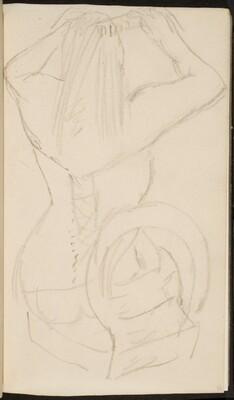 sich kämmende Frau in Wäsche (Woman in a Corset Combing Her Hair) [p. 55]