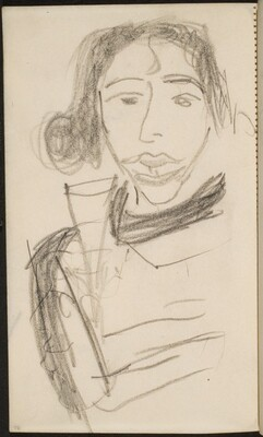 Frau mit Champagnerglas (Woman with a Glass of Champagne) [p. 96]
