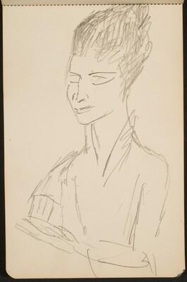 Frau mit geschlossenen Augen (Woman with Eyes Closed) [p. 7]