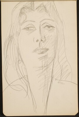 weibliche Bildnisstudie (Female Portrait) [p. 13]