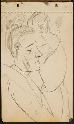 zwei männliche Profile (Two Male Profiles) [p. 1]