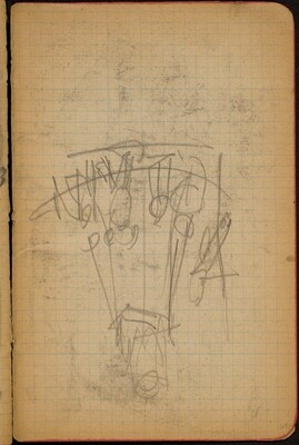 Nicht identifizierte Skizze, Karussell? (Sketch of Merry-go-round, Perhaps) [p. 69]