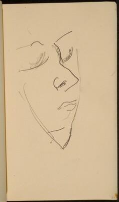 weibliches Gesicht mit geschlossenen Augen (Woman's Face, Eyes Closed) [p. 23]