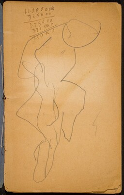 Begonnene Skizze, Notizen (Initial Sketch, Notation) [p. 1]