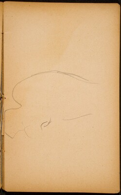 begonnene Elefantenstudie (Initial Sketch of an Elephant) [p. 29]