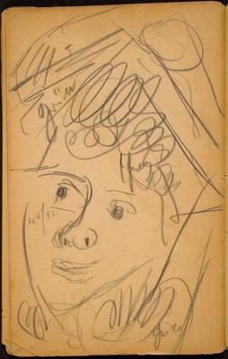 Weibliches Gesicht, wohl Pierrette (Woman's Face, probably Pierrette) Face [p. 78]