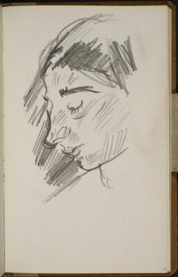 Weibliche Bildnisstudie (Female Portrait Study) [p. 5]