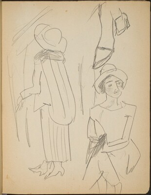 Kleiderstudien (Studies of Dresses) [p. 23]