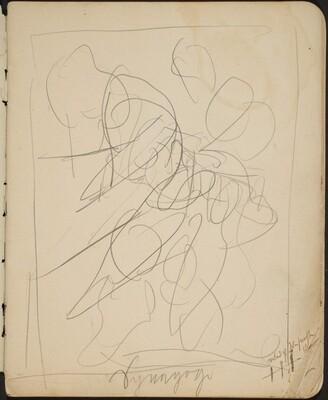 Kompositionsskizze (Sketch with Inscription) [p. 3]