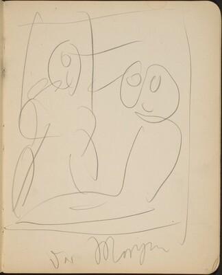 Zweifigurige Kompositionsskizze mit Bezeichnung (Sketch with Two Figures) [p. 15]