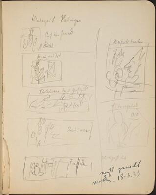 Sieben bezeichnete Skizzen (Seven Sketches with Inscriptions) [p. 29]