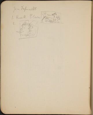 Zwei kleine Skizzen mit Bezeichnung  (Two Small Sketches) [p. 36]