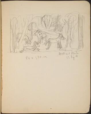 Wald mit Pferden, Bezeichnung (Horses in Forest, Inscription) [p. 39]