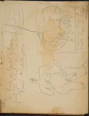 Zwei Skizzen und Notizen (Two Sketches with Notations) [p. 3]