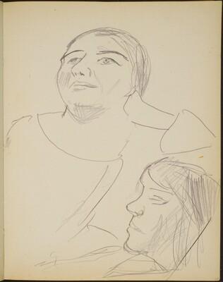 zwei weibliche Bildnisstudien (Two Views of a Woman) [p. 27]