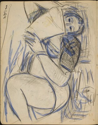 Liegende Frau, lesend (Nude Reclining and Reading) [p. 12]