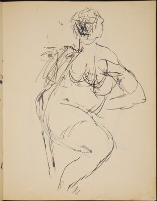 Flüchtige Studie eines Aktes und eines Gesichtes (Nude Sketches) [p. 23]