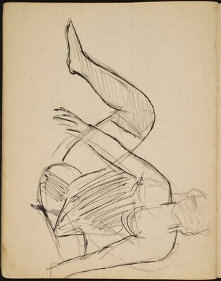 Sitzende Frau in Wäsche (Half Nude Seated) [p. 36]