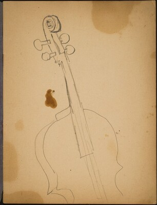 Detailstudie eines Violoncello (Study of a Violin) [p. 1]