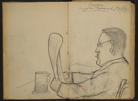 Man Reading at the Tiergarten Restaurant, Berlin