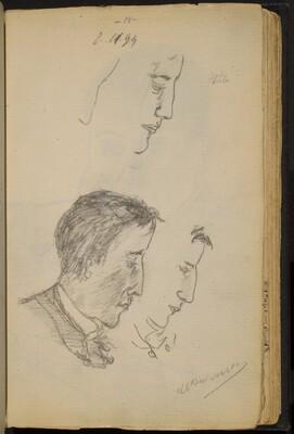 Studies of a Man's Profile