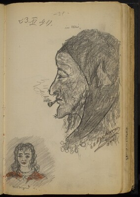 Two Studies of Women's Faces