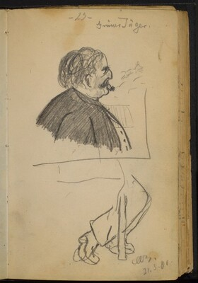 Man with a Cigar in Profile to the Right
