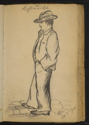 Standing Man with His Hands in His Pockets