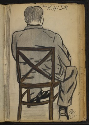 Seated Man seen from Behind