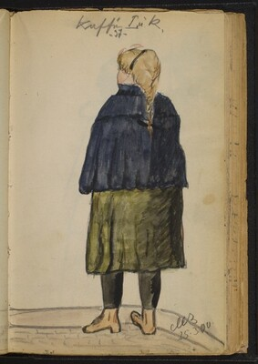 Woman with Braid seen from Behind