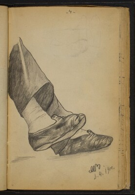 Study of a Pair of Feet in Slippers