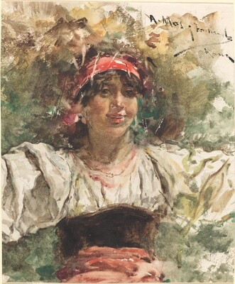 Young Girl with a Red Bandana